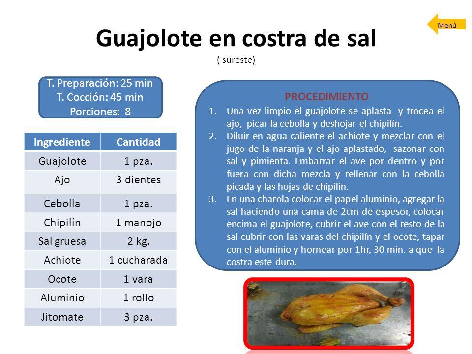 Guajolote en costra de sal ( sureste)