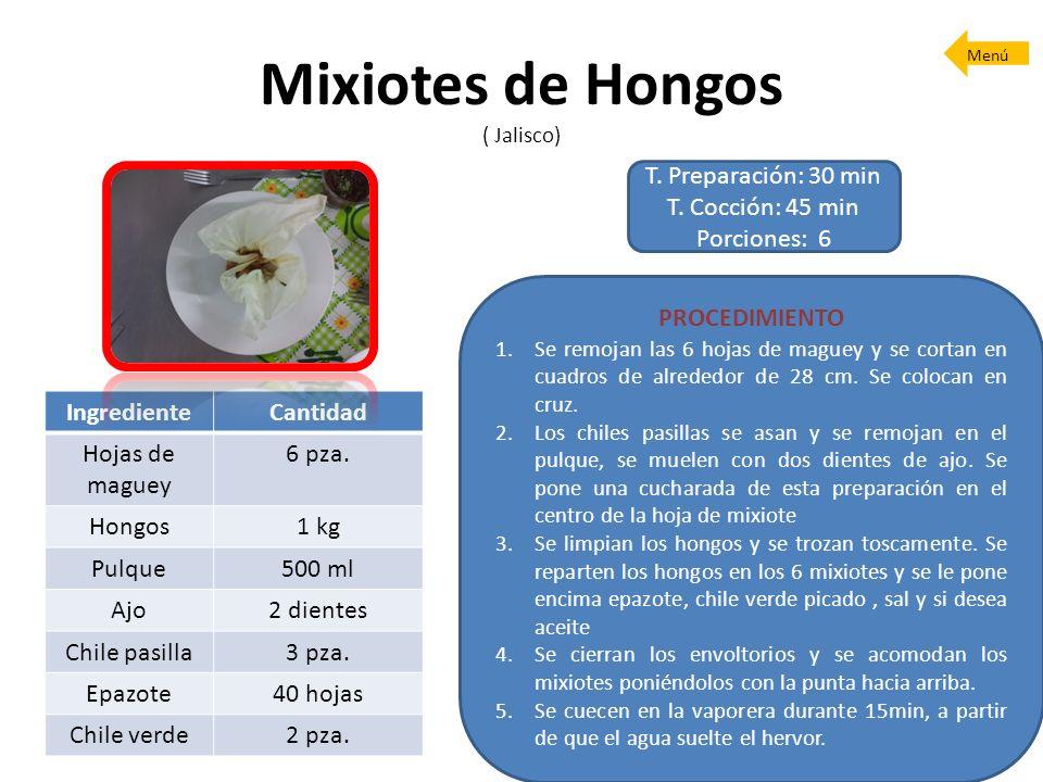 Mixiotes de Hongos ( Jalisco)