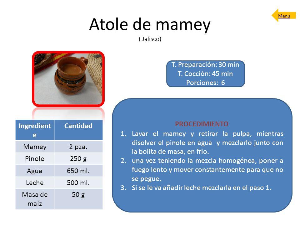 Atole de mamey ( Jalisco)