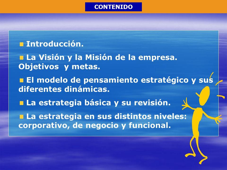 La Visión y la Misión de la empresa. Objetivos y metas.