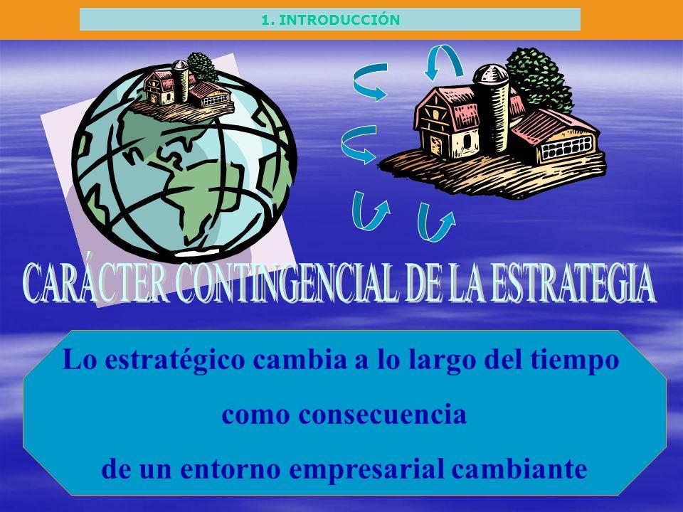 CARÁCTER CONTINGENCIAL DE LA ESTRATEGIA