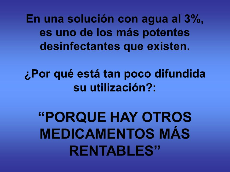 PORQUE HAY OTROS MEDICAMENTOS MÁS RENTABLES