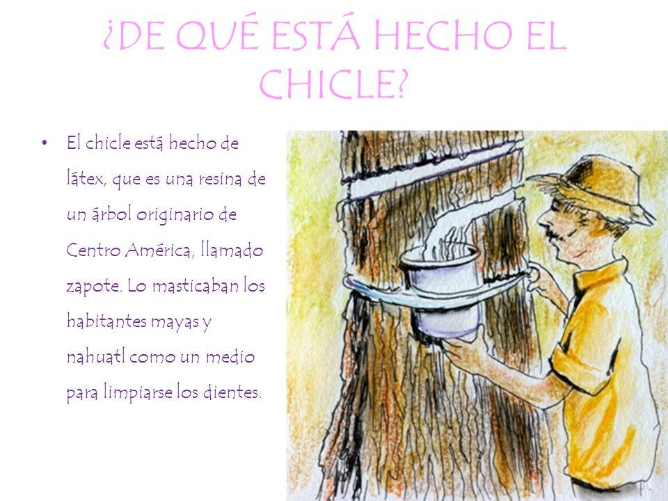 ¿DE QUÉ ESTÁ HECHO EL CHICLE