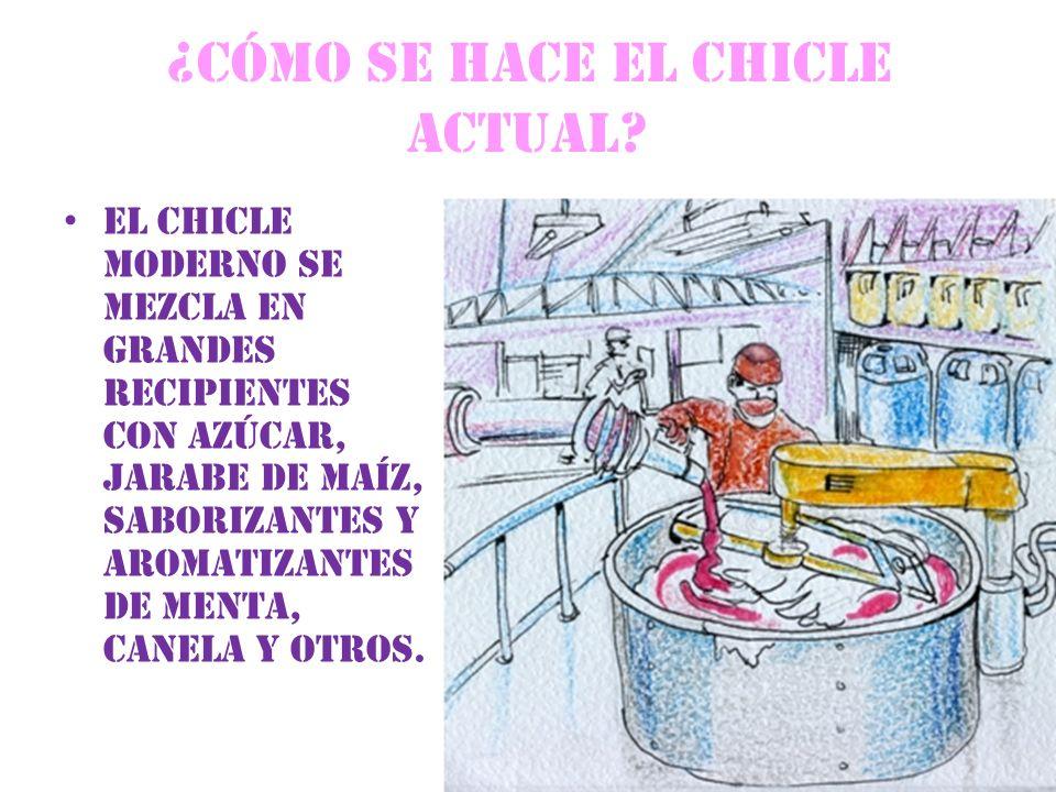 ¿CÓMO SE HACE EL CHICLE ACTUAL