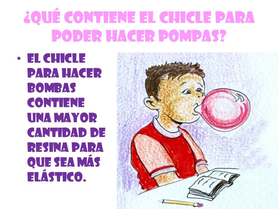 ¿QUÉ CONTIENE EL CHICLE PARA PODER HACER POMPAS