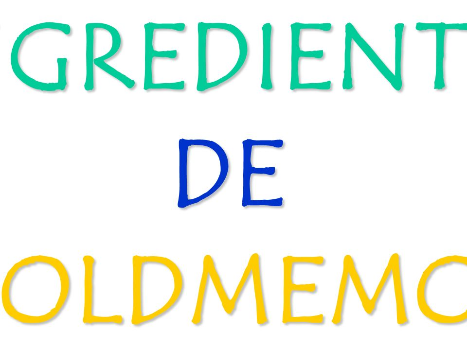 INGREDIENTES DE GOLDMEMOX