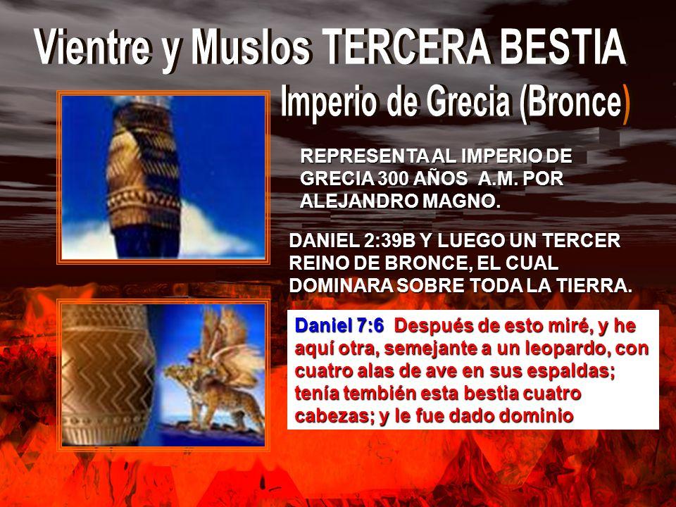 Vientre y Muslos TERCERA BESTIA Imperio de Grecia (Bronce)
