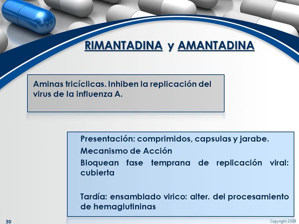 RIMANTADINA y AMANTADINA