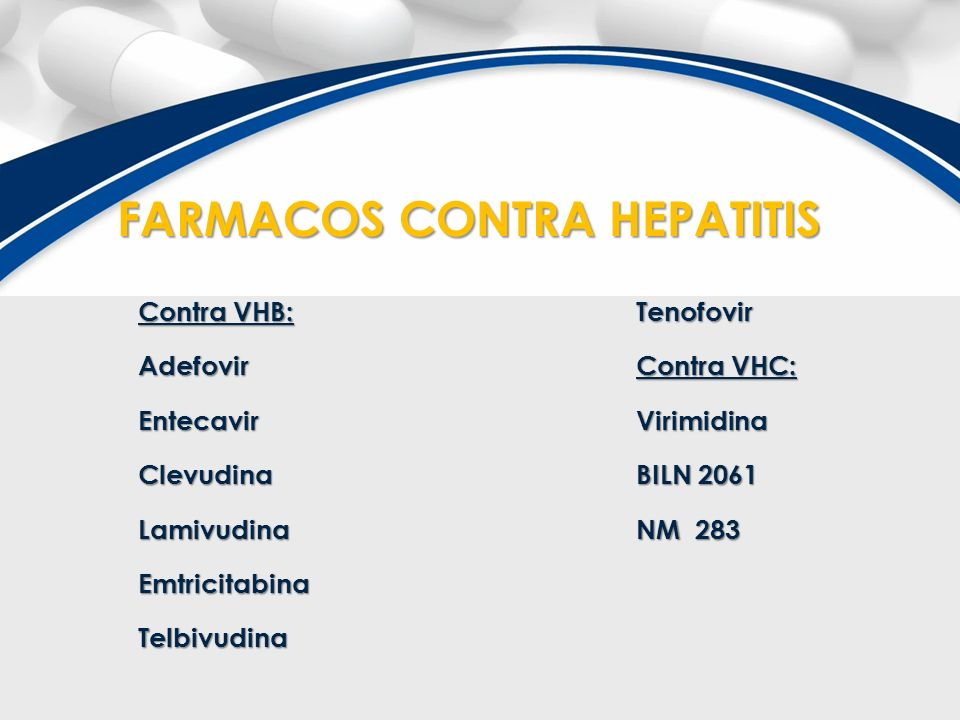 FARMACOS CONTRA HEPATITIS
