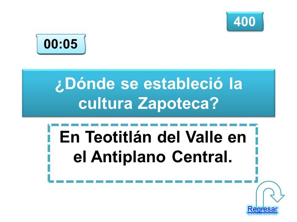¿Dónde se estableció la cultura Zapoteca