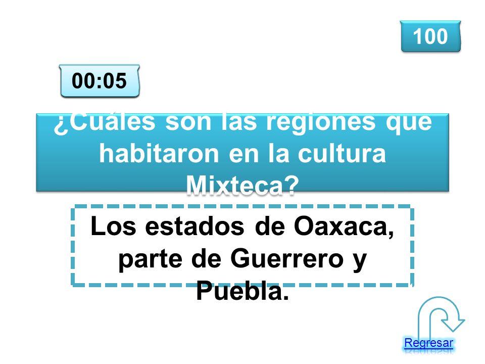 ¿Cuáles son las regiones que habitaron en la cultura Mixteca