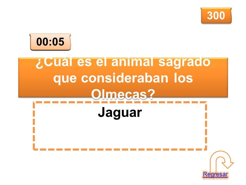 ¿Cuál es el animal sagrado que consideraban los Olmecas