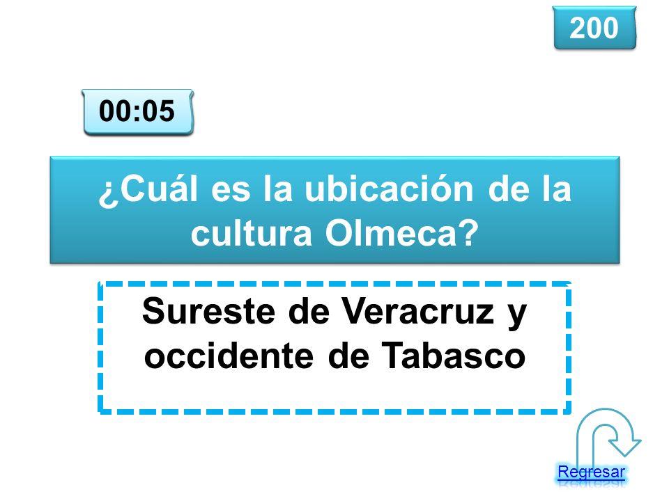 ¿Cuál es la ubicación de la cultura Olmeca