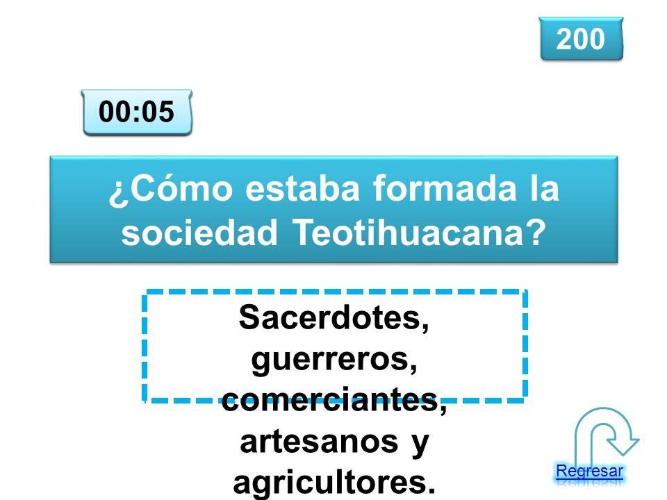 ¿Cómo estaba formada la sociedad Teotihuacana