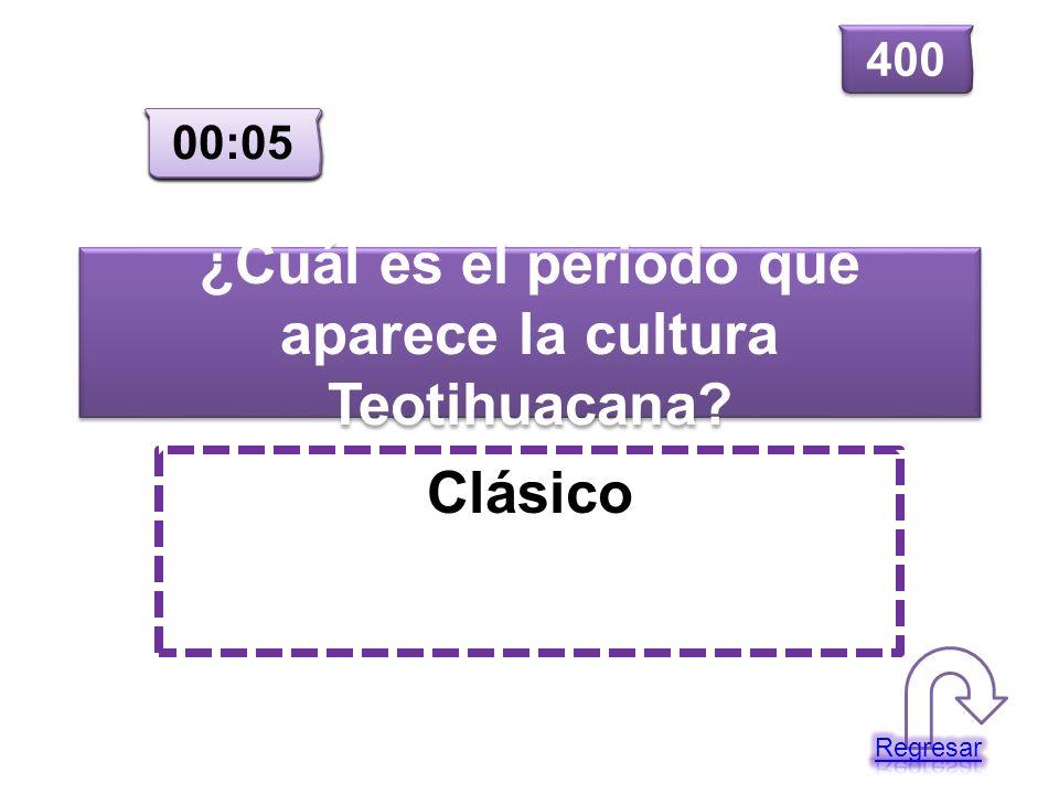 ¿Cuál es el periodo que aparece la cultura Teotihuacana