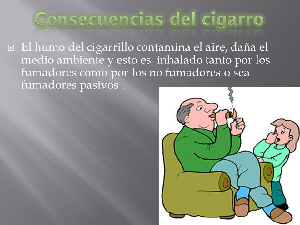 Consecuencias del cigarro