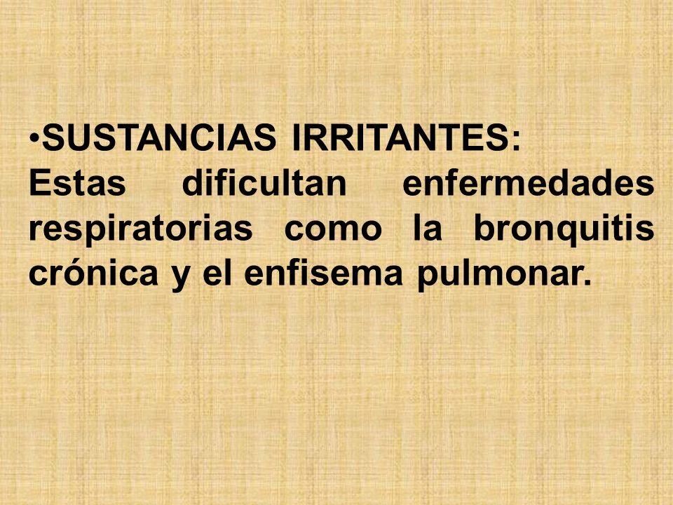 SUSTANCIAS IRRITANTES: