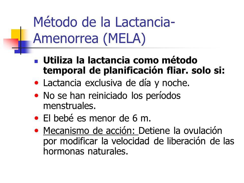 Método de la Lactancia- Amenorrea (MELA)