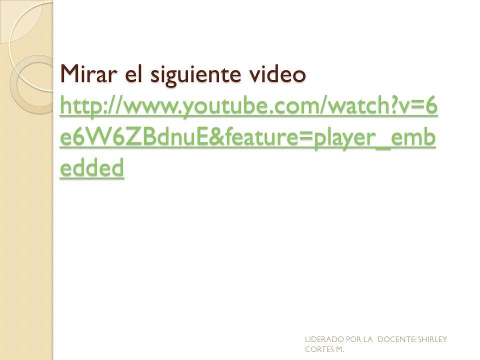 Mirar el siguiente video http://www. youtube. com/watch