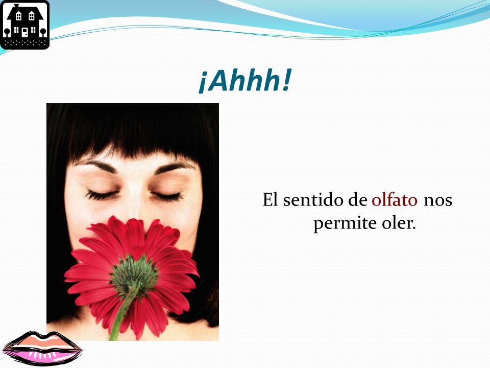 El sentido de olfato nos permite oler.