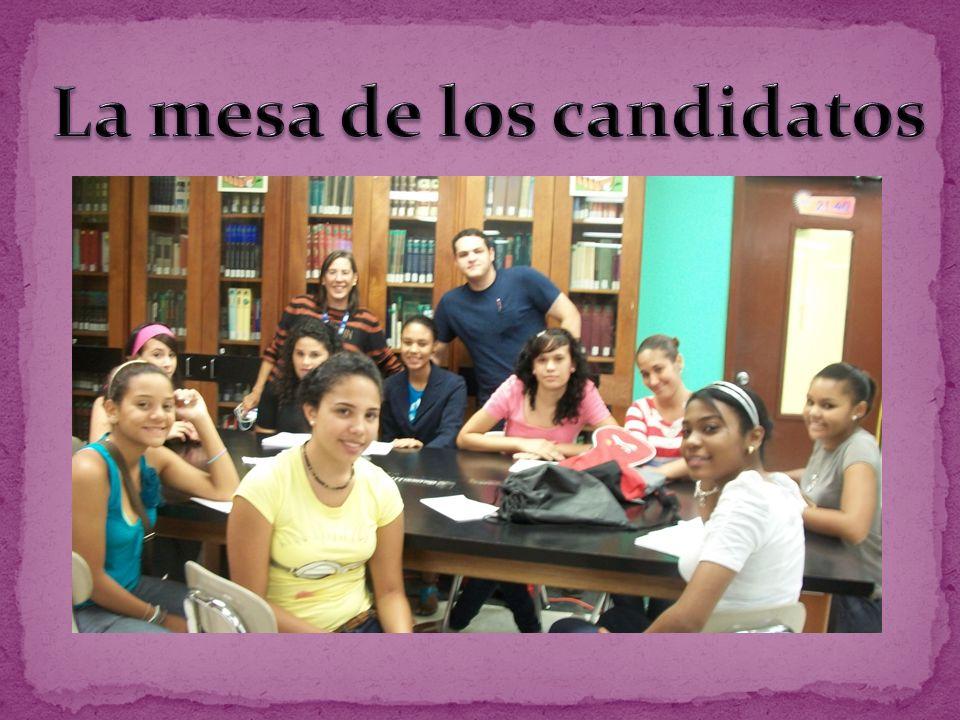 La mesa de los candidatos