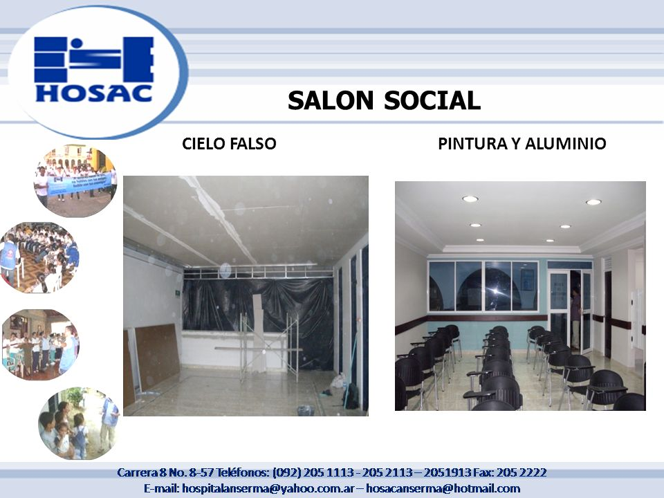 SALON SOCIAL CIELO FALSO PINTURA Y ALUMINIO