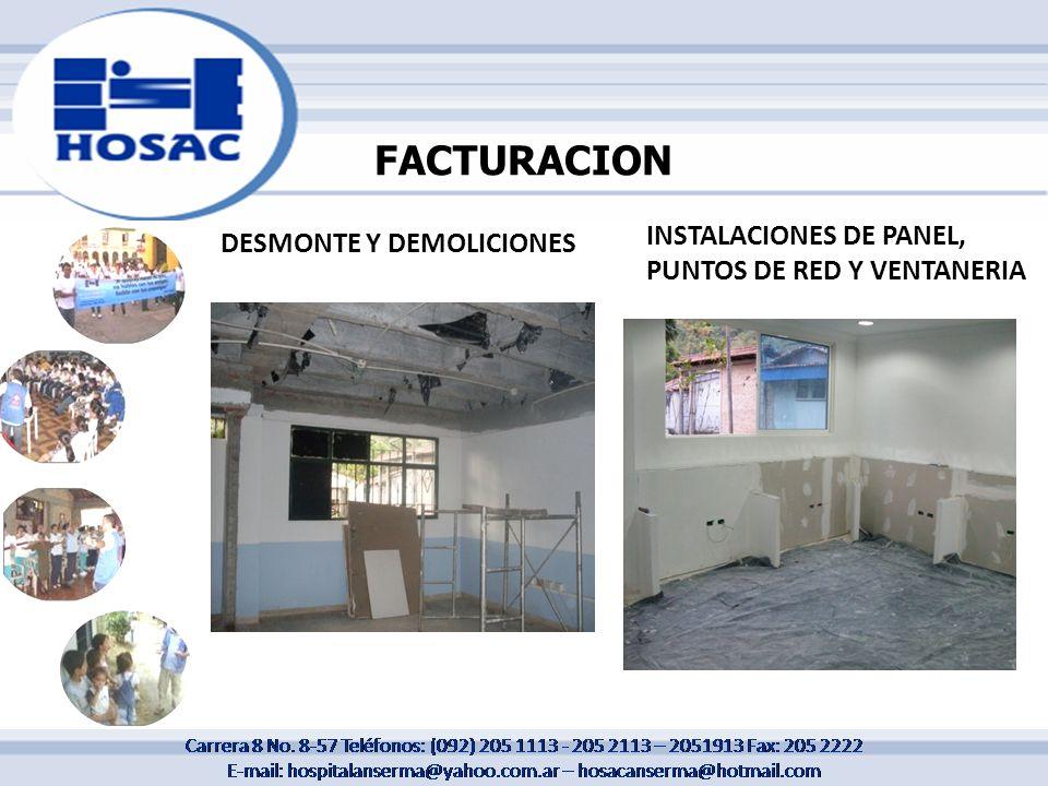 FACTURACION INSTALACIONES DE PANEL, PUNTOS DE RED Y VENTANERIA