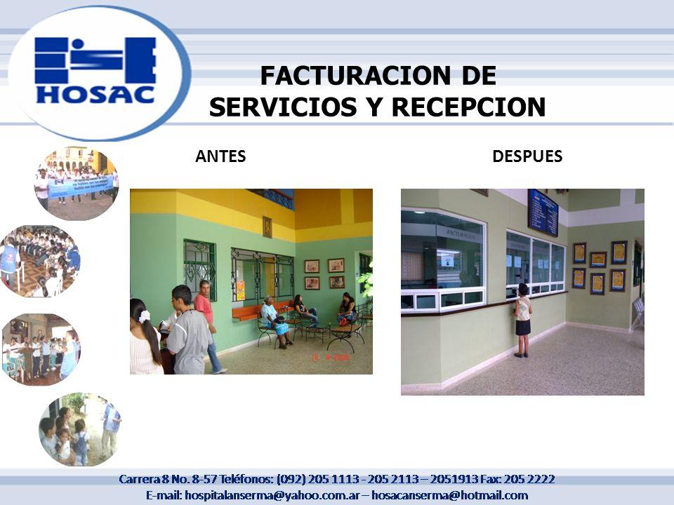 FACTURACION DE SERVICIOS Y RECEPCION