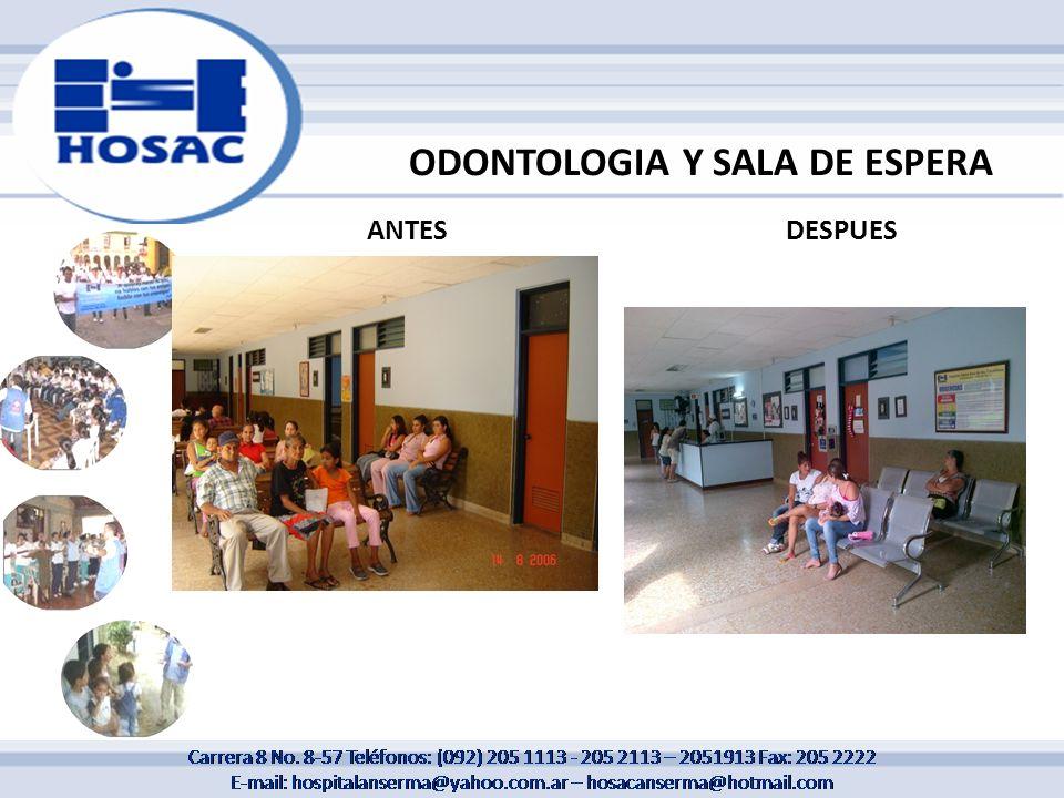 ODONTOLOGIA Y SALA DE ESPERA
