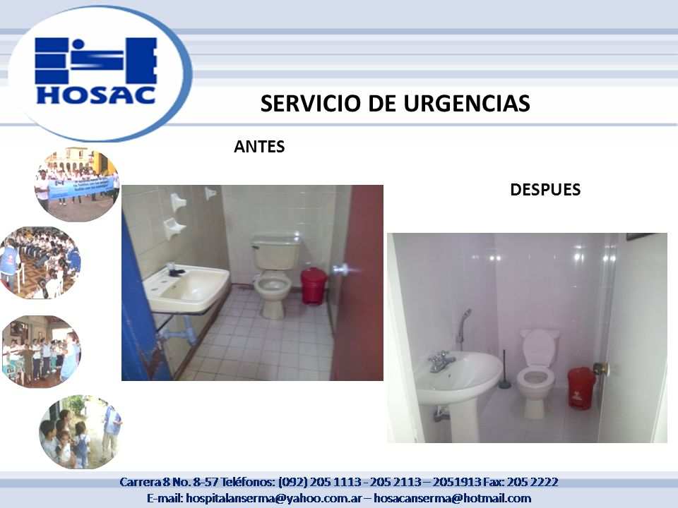 SERVICIO DE URGENCIAS ANTES DESPUES