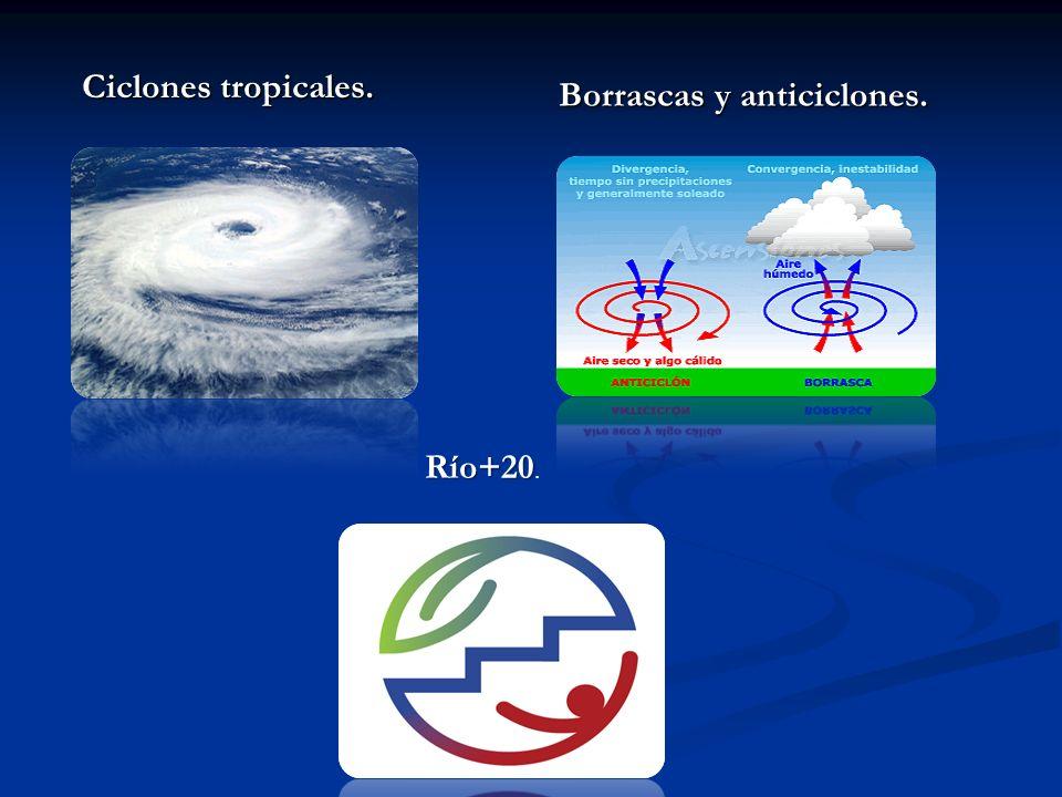 Ciclones tropicales. Borrascas y anticiclones. Río+20.
