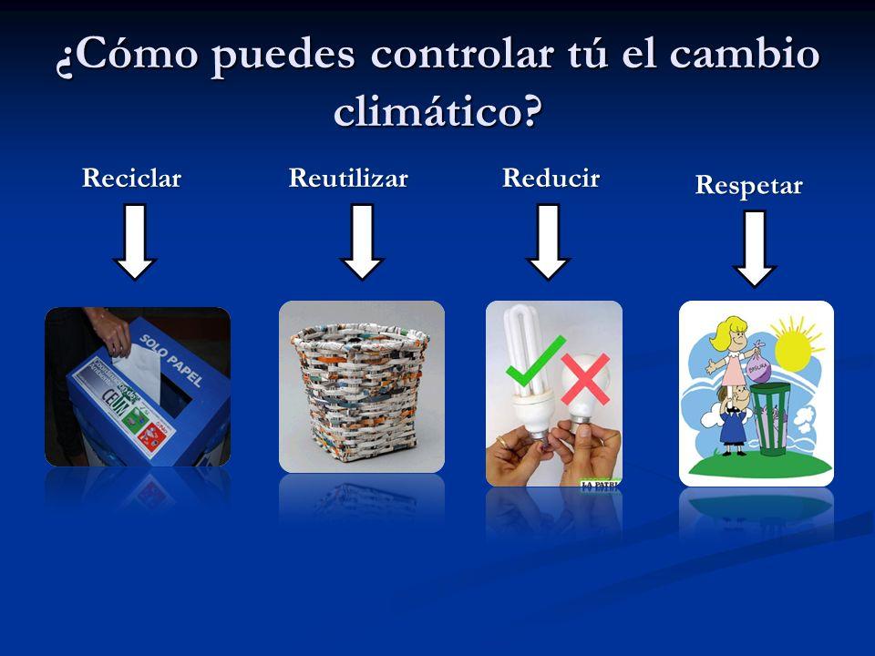 ¿Cómo puedes controlar tú el cambio climático