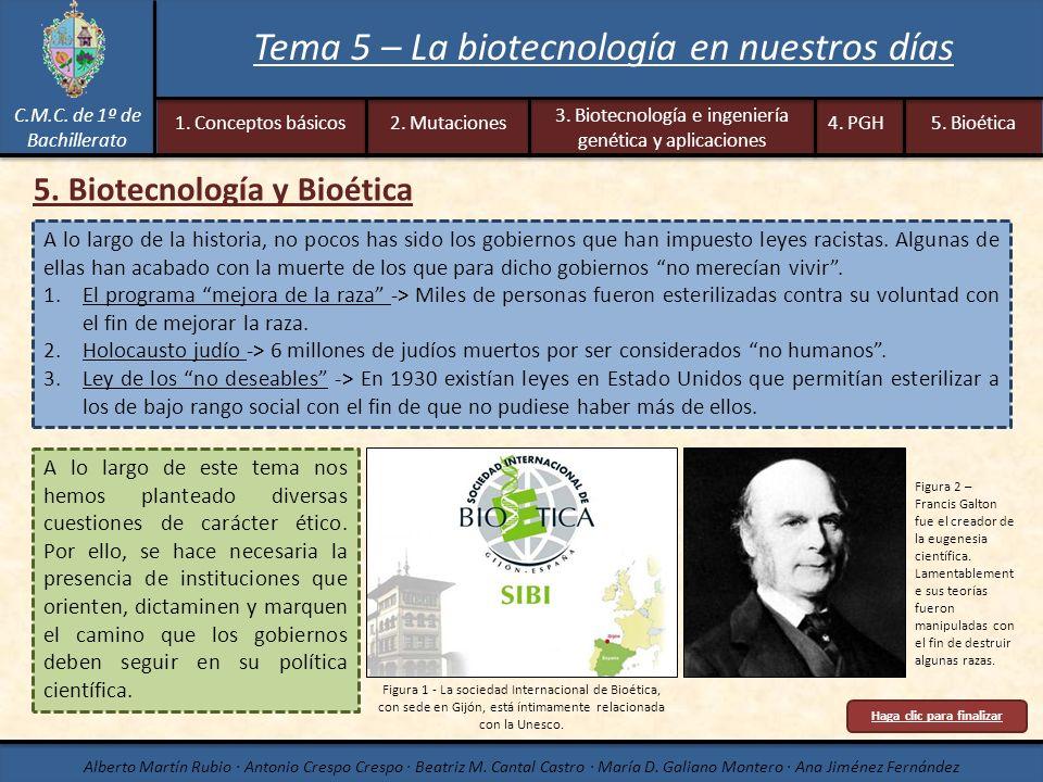 5. Biotecnología y Bioética Haga clic para finalizar