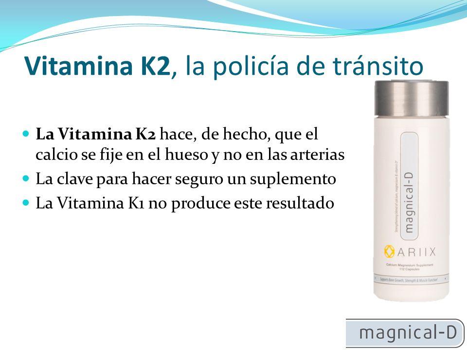 Vitamina K2, la policía de tránsito