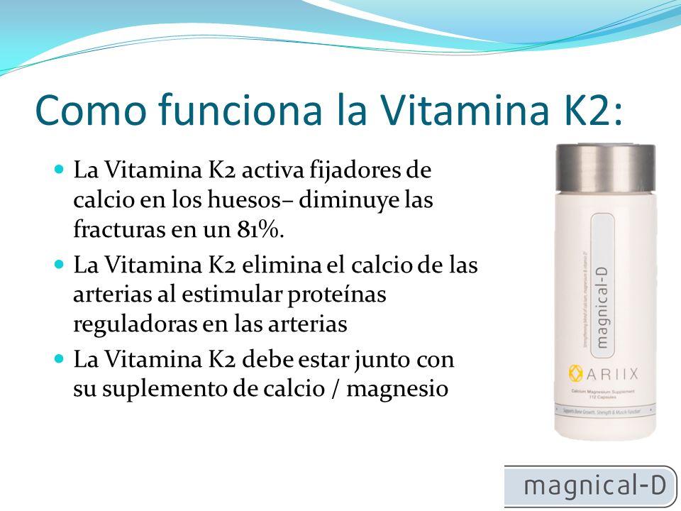 Como funciona la Vitamina K2: