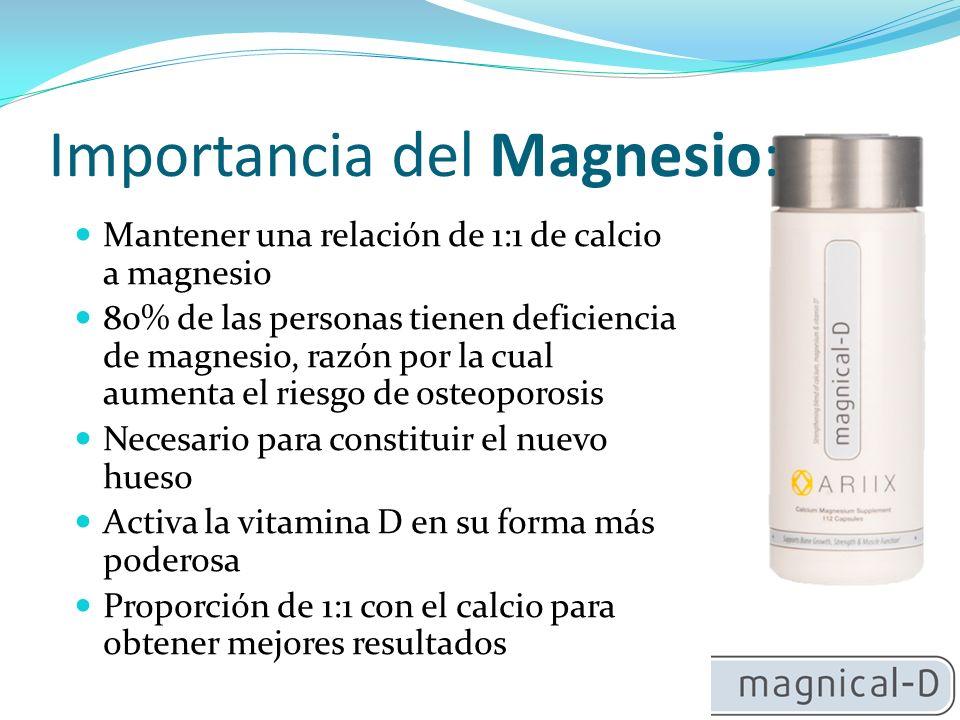 Importancia del Magnesio: