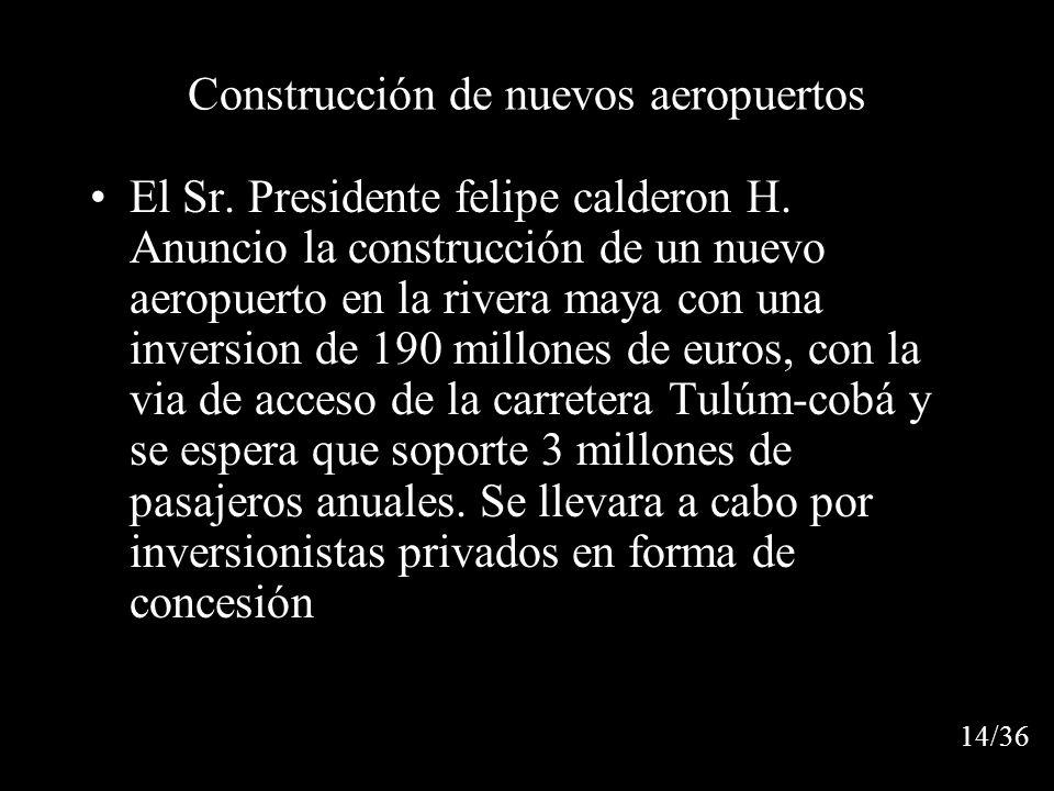 Construcción de nuevos aeropuertos