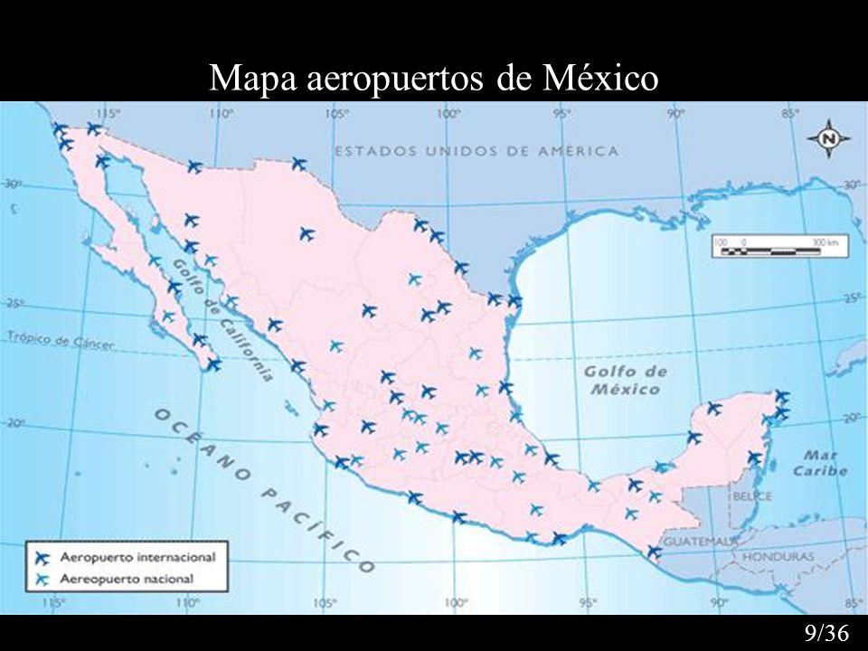 Mapa aeropuertos de México