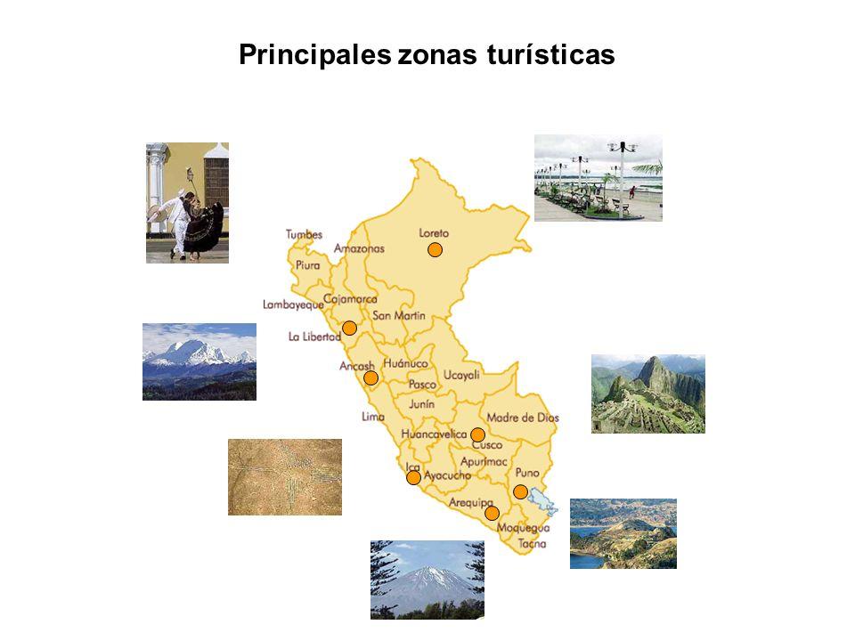 Principales zonas turísticas