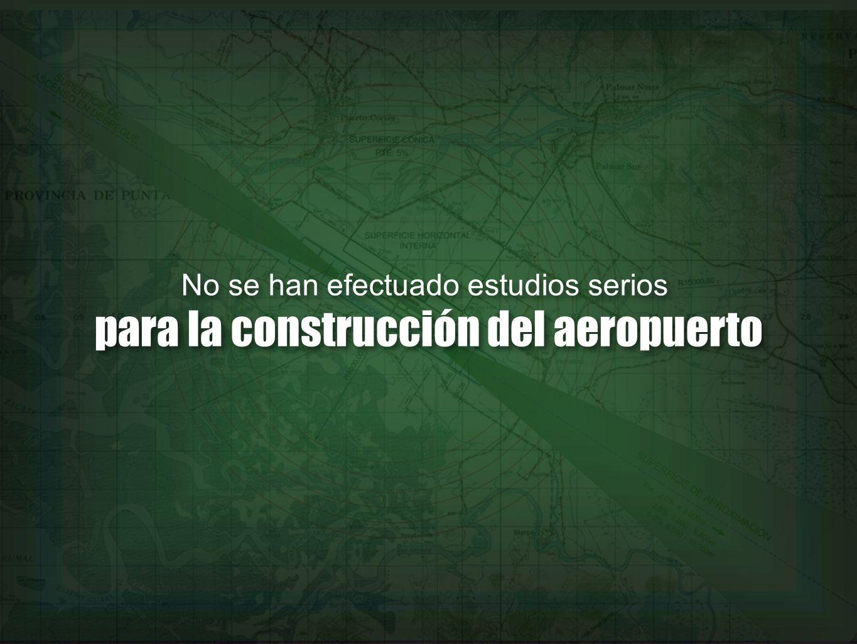 para la construcción del aeropuerto