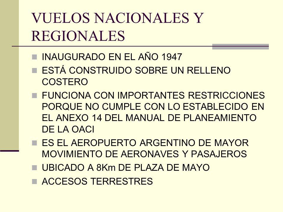 VUELOS NACIONALES Y REGIONALES