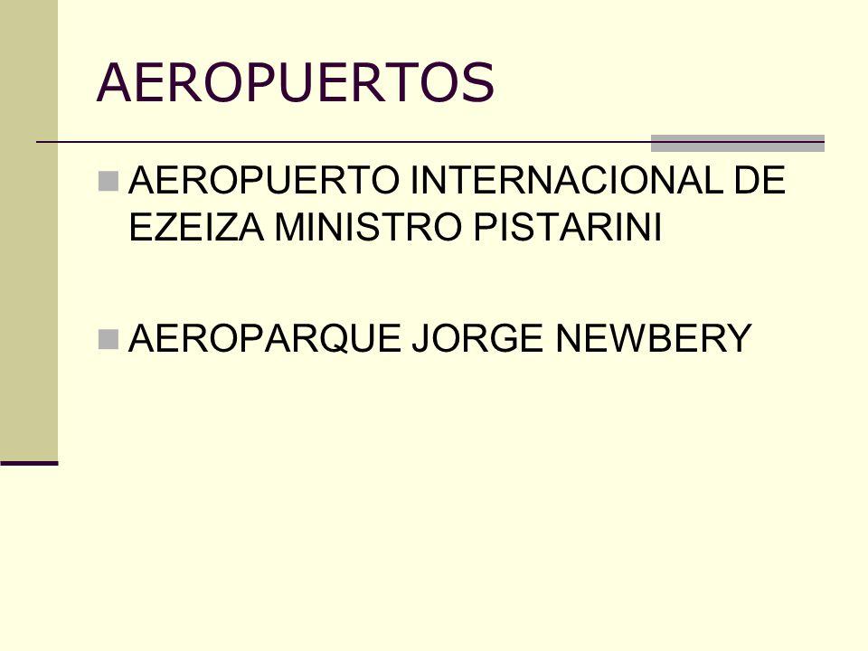 AEROPUERTOS AEROPUERTO INTERNACIONAL DE EZEIZA MINISTRO PISTARINI