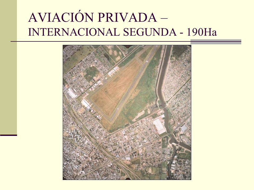 AVIACIÓN PRIVADA – INTERNACIONAL SEGUNDA - 190Ha