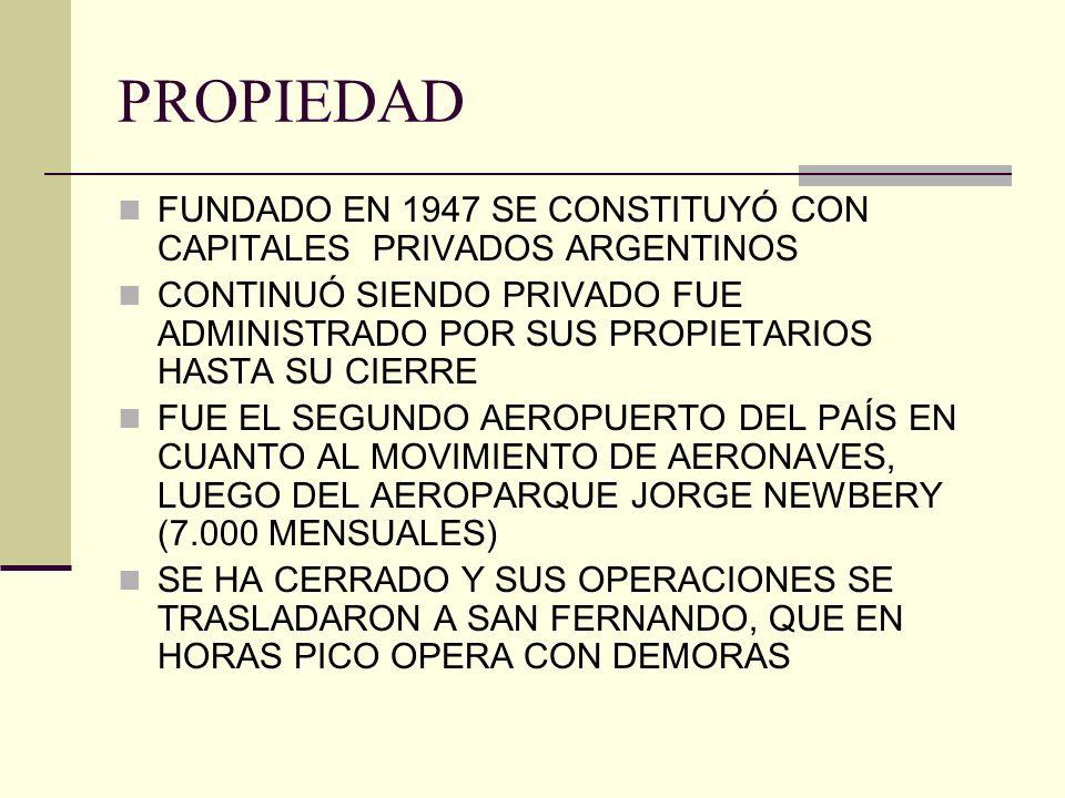 PROPIEDAD FUNDADO EN 1947 SE CONSTITUYÓ CON CAPITALES PRIVADOS ARGENTINOS.