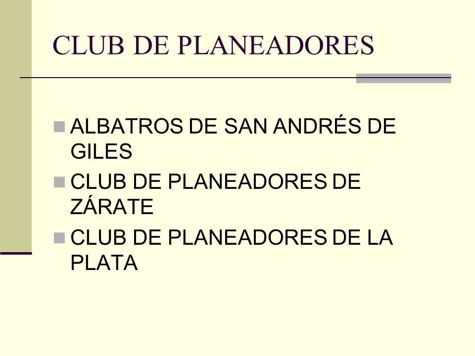 CLUB DE PLANEADORES ALBATROS DE SAN ANDRÉS DE GILES