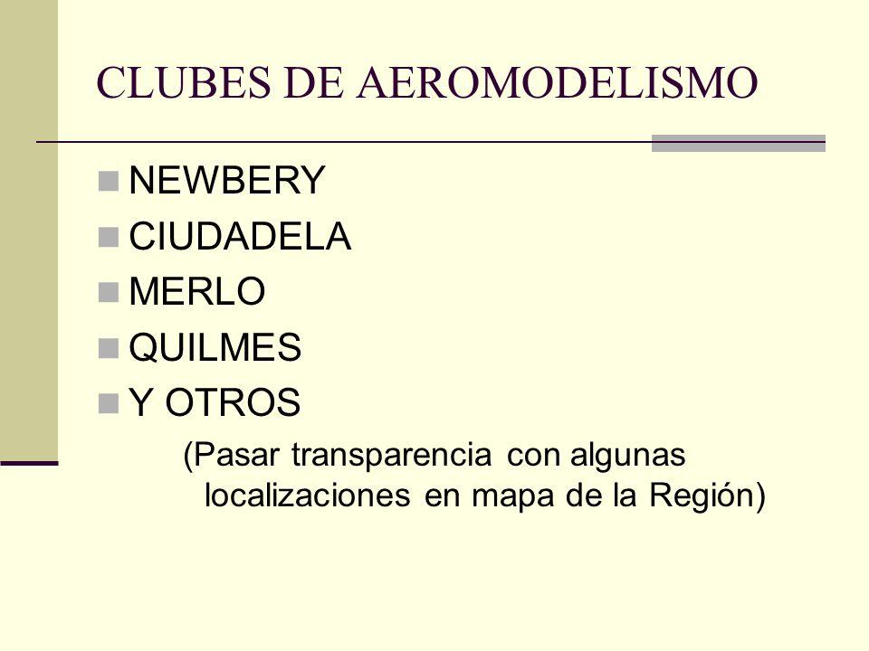 CLUBES DE AEROMODELISMO