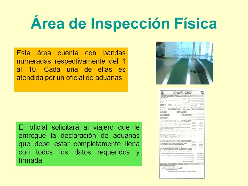 Área de Inspección Física