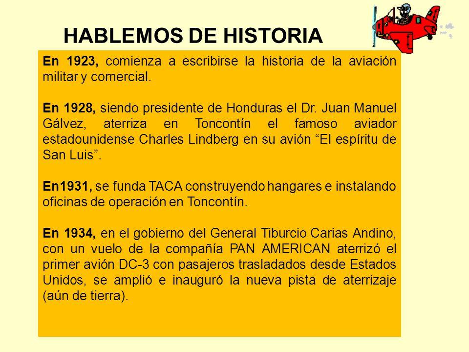 HABLEMOS DE HISTORIA En 1923, comienza a escribirse la historia de la aviación militar y comercial.