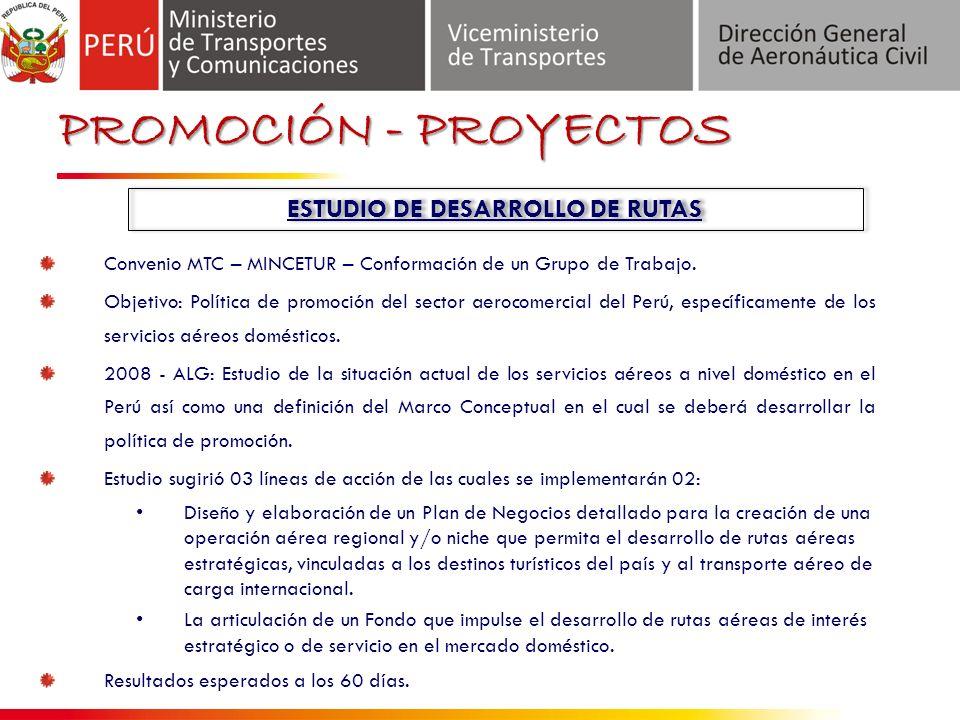 ESTUDIO DE DESARROLLO DE RUTAS