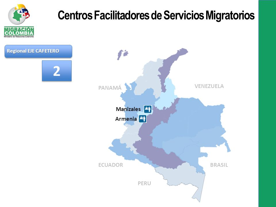 2 Centros Facilitadores de Servicios Migratorios PANAMÁ VENEZUELA